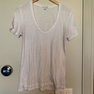 James Perse Standard White T Shirt